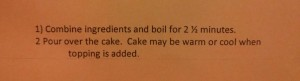 apple cake topping instructions